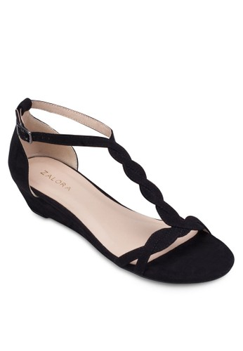 T-Strap Wedge Sandals, 女鞋,zalora 心得 鞋