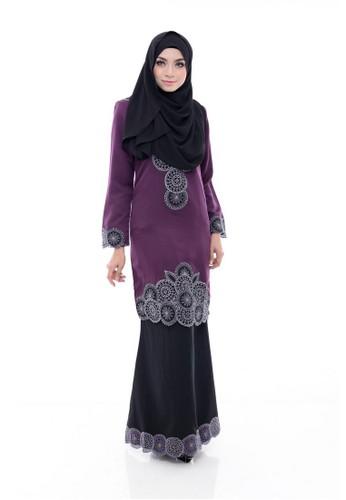 Adira Block 58 – Purple Black from Maribeli Butik in Black and Purple