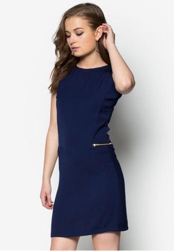 拉鍊直筒連身裙, 服飾,zalora 包包評價 洋裝