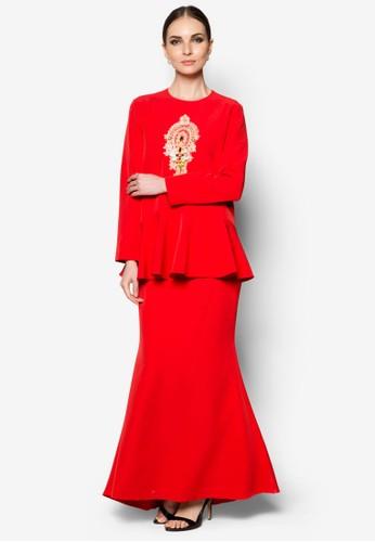 Jiena Baju Kurung from JLuxe in Red