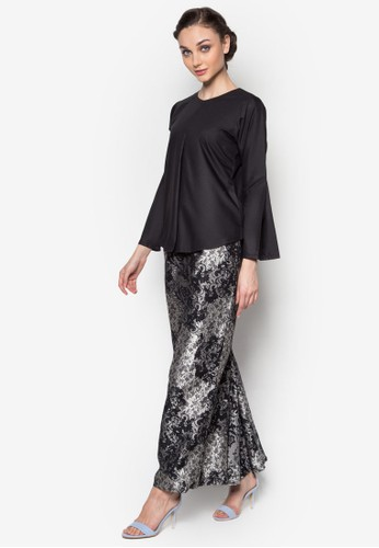 Murni Kurung from Seleksi Akma in Black and Grey