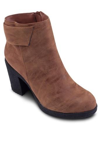 Pazalora 台灣rker 仿皮粗跟踝靴, 女鞋, 靴子