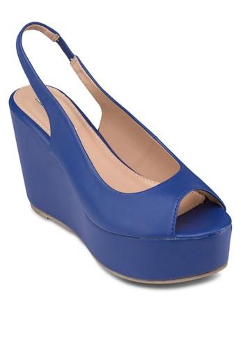 魚口楔形涼鞋, 女鞋, 楔形涼zalora退貨鞋