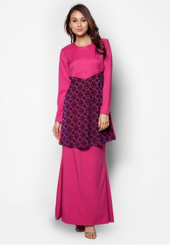 Baju Kurung Nursing from Gene Martino in Pink