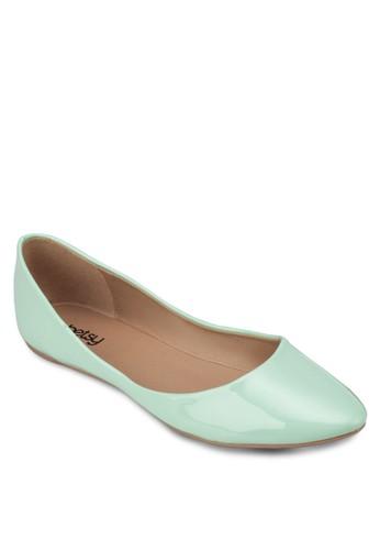 漆皮尖頭zalora 台灣平底鞋, 女鞋, 鞋