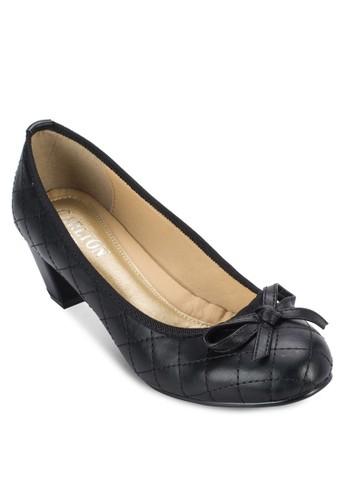 格zalora鞋紋蝴蝶結中跟鞋, 女鞋, 鞋