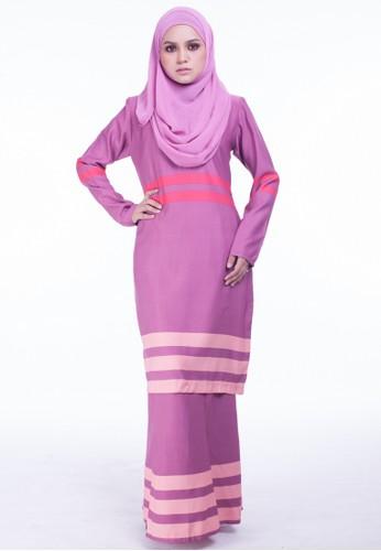 Baju Kurung Moden Jasmeen from Moodha  in Pink
