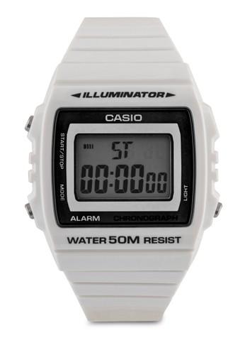 W-215H-7AVDF 防水多功能電子錶, 錶類, 其它錶zalora鞋帶