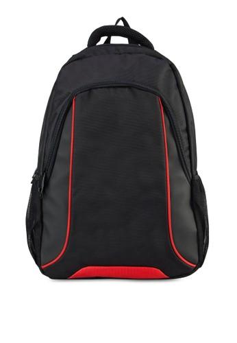 撞色滾邊筆電後背包, 包, 飾品zalora時尚購物網評價配件