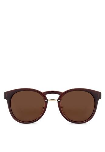 經典圓框太陽zalora taiwan 時尚購物網鞋子眼鏡, 飾品配件, 復古框