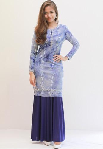 Sweetheart Jameela Baju Kurung (Blue) from Sweetheart in Blue