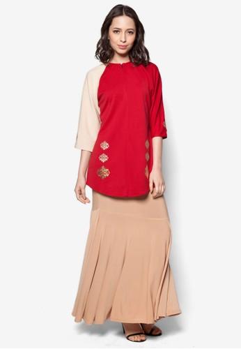 Elleeze Baju Kurung Kedah Dokoh from Elleeze Attire in Red