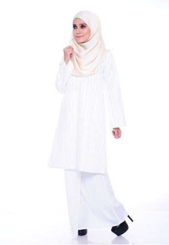 Orkid Kurung Moden - White from Aireen in White