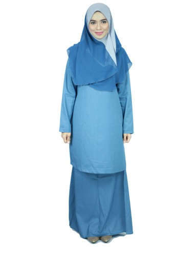 Baju Kurung Moden Ariani - Slate Gray from anisse in Blue