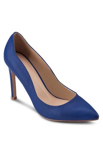 zalora退貨經典仿皮尖頭高跟鞋, 女鞋, 厚底高跟鞋