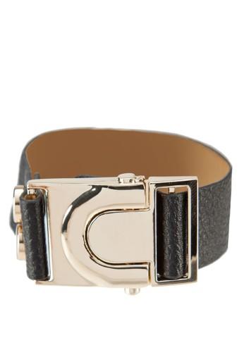 按扣開合皮革zalora開箱手環, 飾品配件, 其他