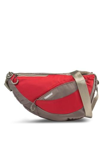 EZ 不對稱雙色迷你單肩包, 包, 郵差zalora開箱包
