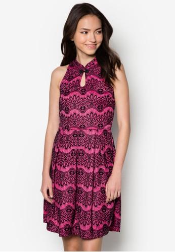 Mei 蕾絲旗袍洋裝,zalora鞋 服飾, 洋裝