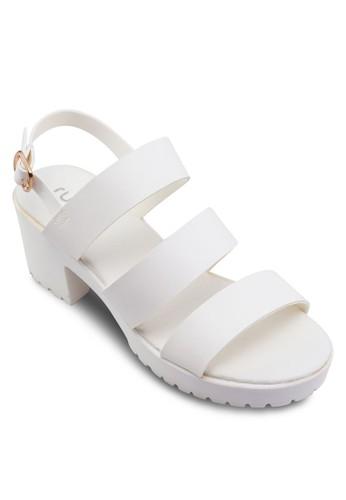 Hula寬帶繞踝高zalora 台灣跟鞋, 女鞋, 鞋