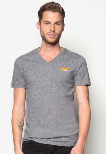 經典品牌標誌Vzalora 評價領TEE, 服飾, 素色T恤