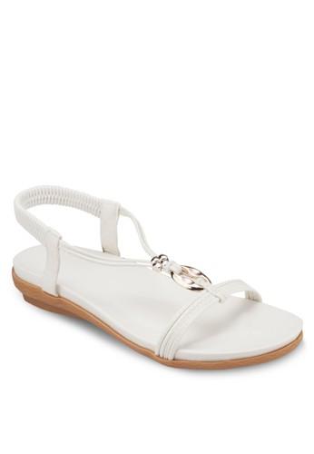 四葉草金飾T字帶涼zalora 評價鞋, 女鞋, 涼鞋