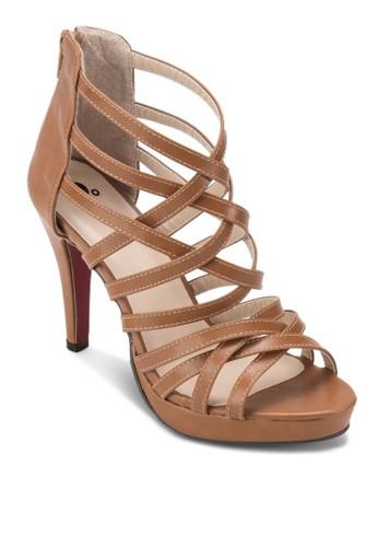 Cross Strap Platform Heelzalora鞋子評價s, 女鞋, 鞋