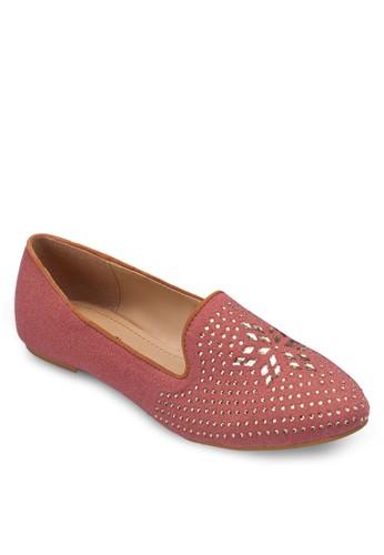 鉚釘貼花樂福鞋, 女鞋zalora退貨, 鞋