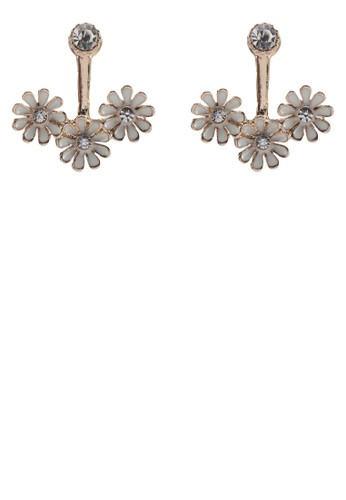 花飾耳環, 飾品配zalora開箱件, 耳釘