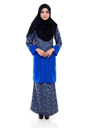 Kurung Modern Humaira (Blue) from Nur Shila in Blue
