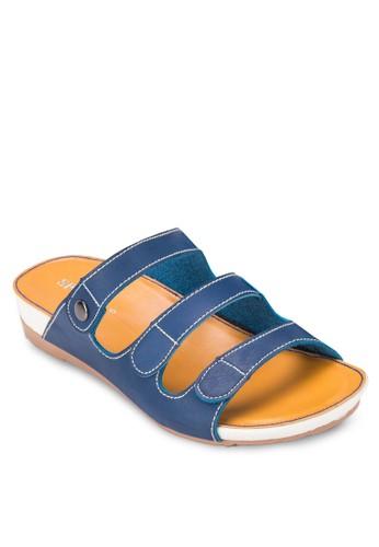 zalora 內衣一字帶厚底涼鞋, 女鞋, 涼鞋