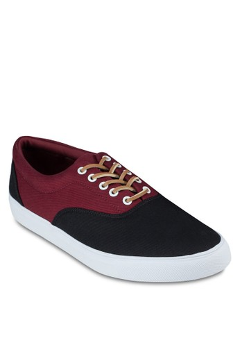 撞色拼接繫帶休zalora 手錶 評價閒鞋, 鞋, 鞋