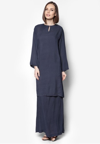 Rayon Baju Kurung from Jennifer Creations in Blue