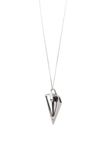 三角錐墜飾造型項鍊, 飾品配件, zalora 包包 ptt項鍊