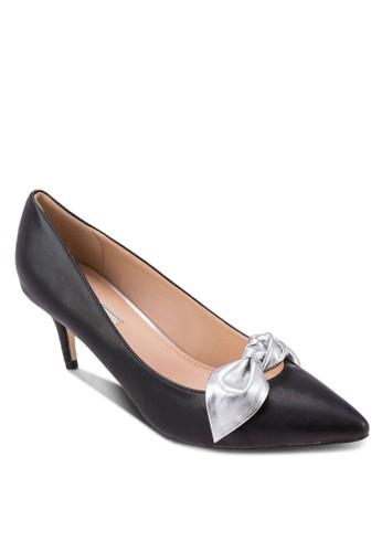 亮面蝴蝶結尖頭高跟鞋zalora 鞋評價, 女鞋, 鞋