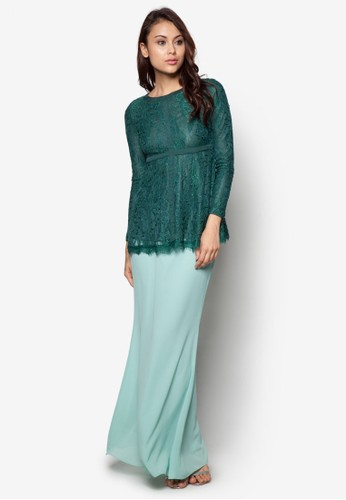 Ethereal Spirit Baju Kurung Moden from Zolace in Green