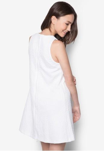 暗紋寬擺連身裙, 服飾, zalora 台灣洋裝