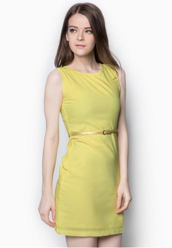 細腰帶連身裙, zalora鞋子評價服飾, 洋裝