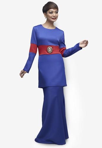 Emel x Atilia Haron Pussilus Modern Baju Kurung from Emel by Melinda Looi in Blue