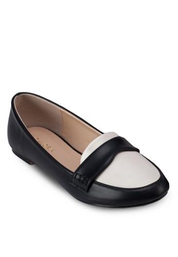 zalora 台灣撞色樂福鞋, 女鞋, 芭蕾平底鞋