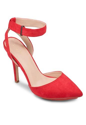 厚底繞踝尖頭高跟鞋, 女zalora退貨鞋, 鞋