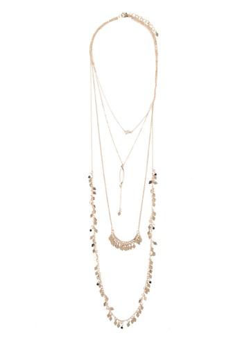 幾何吊飾層疊項鍊, 飾品配件zalora退貨, 飾品配件