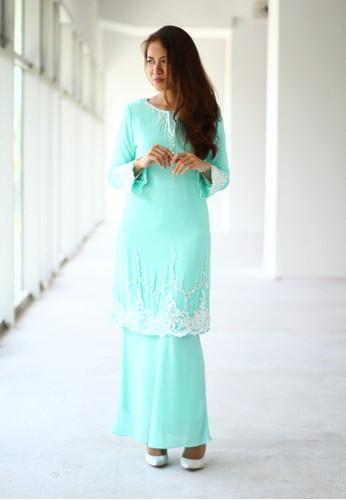 Baju Kurung Moden from Sweetheart in Blue