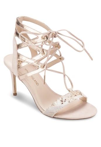 蛇zalora鞋紋羅馬高跟涼鞋, 女鞋, 細帶高跟鞋