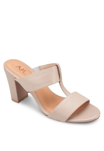 T字帶粗跟涼鞋,zalora 心得 女鞋, 中跟