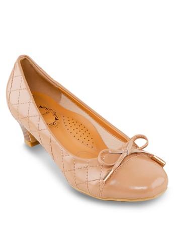 兩個zalora退貨拼接蝴蝶結中跟鞋, 女鞋, 鞋