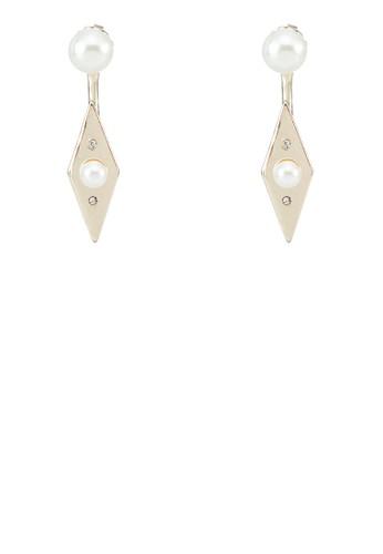 珍zalora 包包 ptt珠垂掛耳環, 飾品配件, 其他