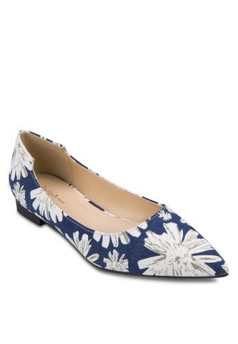 印花尖頭平底鞋, 女鞋,zalora 心得 鞋