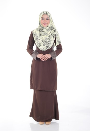 Arianna Modern Kurung from Saqma Boutique in Brown