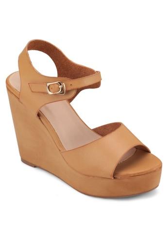 厚底楔型跟涼鞋, 女鞋, zalora 手錶楔形涼鞋