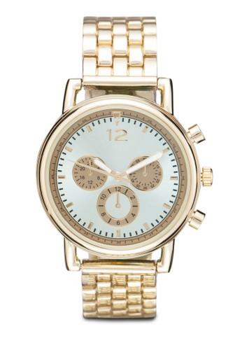 多錶盤金屬錶, 錶類, 不銹鋼錶zalora 鞋評價帶